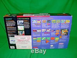 1992 Rare Super Nintendo SNES Console System Boxed Super Mario World vintage CIB