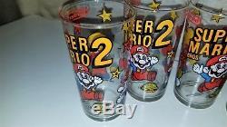 6 Vintage Nintendo Super Mario Bros. 2 1989 Cups / Glasses RARE! FREE SHIPPING