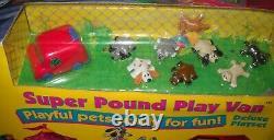#7373 RARE NRFB Vintage Galoob Pound Puppies Super Pound Play Van Deluxe Playset