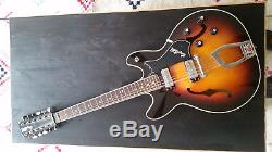 AWESOME VINTAGE HAGSTROM Viking SUPER RARE 12 STRING Hollow Body Electric Guitar