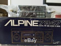 Alpine 7347 Vintage Old School Car Stereo Super Rare Nib Nos Lamborghini, Ferrar