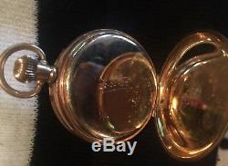 Antique SUPER RARE Rolex pocket watch 1026810 two plates of 10ct Gold