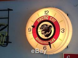 Arctic Cat Vintage Clock Super Rare