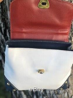Auth Bottega Veneta Vintage Leather Multi Flap Kelly Bag Super Rare