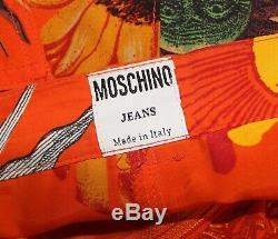 Authentic MOSCHINO JEANS Vintage Rare 90s Sun Print Shirt Shorts Ensemble IT44 M