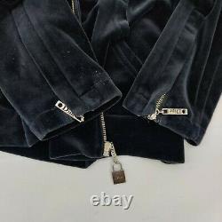 Authentic Vintage J'adore Christian Dior Boutique Black Velvet Jacket Sz 10 RARE