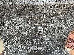 Beautiful Rare Vintage Antique 209lb Blacksmith Anvil Nohab #18 Super Anvil
