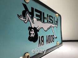 Body by Fisher Vintage 60s 70s Chevy GM License Plate Accessory Nova SS RARE
