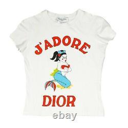 Christian Dior Galliano Rare Vintage JAdore Dior Tshirt Mermaid US 4 6 38