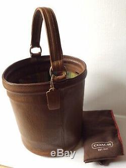 Coach Vintage 60s Bonnie Cashin Mahogany Brown Bucket Feed Bag Purse Super Rare