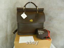Coach Vintage SUPER RARE Willis Back Pack Bag NEVER USED #9152 Mahogany Brass