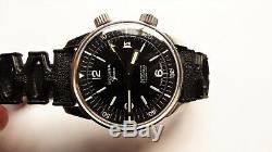 DELVINA super compressor vintage diver watch RARE