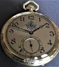 Dudley Masonic Watch Model#2 Super Rare Masonic Dial Great Condition
