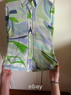EMILIO PUCCI Rare Silk Blouse Vintage Shirt Long Sleeves