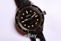 ERNEST BOREL Super Bathyscaphe 200m Vintage diver EXTREME RARE