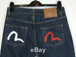 Evisu Model 710 Vintage Multi Pocket Jeans Super Rare Unique Blue Denim 29W 34L