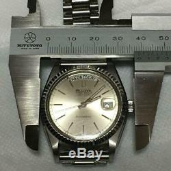 GOOD Vintage Bulova Super Seville Day Men's Watch Rare Collectable Tracking