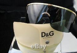 Gucci Gg 1651/s Iconic Green Gold Shield Sunglasses Vintage Aaliyah Super Rare