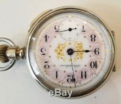 Hamilton 18S Rare super fancy private label & movement dial 17 jewel displaycase