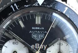 Heuer 3646 H Super Rare Autavia 3nd Execution Valjoux 92 Vintage Gubelin Watch