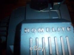 Homelite super xl 12 chain saw blue rare vintage this saw runs perfect
