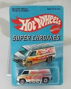 Hot Wheels Redline Super Van Flying Colors Super Chrome Look Vintage Rare Van