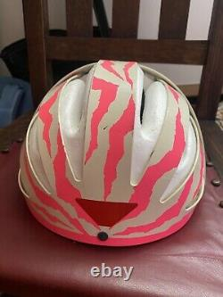 Iconic ETTO Classic Mountain Bike Helmet Vintage 90s Pink Zebra Super Rare