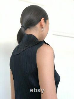 Issey Miyake Pleats Please Top, Black. RARE Vintage. Size M. Brilliant Condition