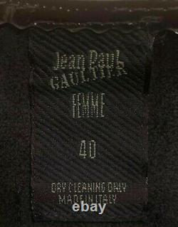 JEAN PAUL GAULTIER FEMME Rare Vintage 90s Black Patent Vinyl PVC Top IT 40 S