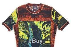 Jean Paul Gaultier Classique Rare Vintage T-shirt Top Waterfall Print Mesh Sz M