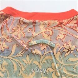 Jean Paul Gaultier Maille Femme Floral Ombre Line Art Print Shirt L Vintage Rare