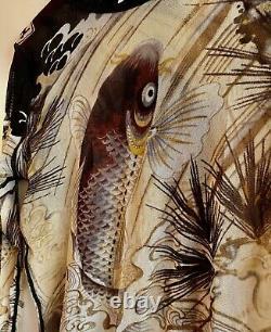 Jean Paul Gaultier Soleil, Rare Vintage Koi Print, Stretch Mesh Top
