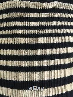 Jean Paul Gaultier Vintage Rare Black Mesh Sheer W Top Striped Ribbing Offers
