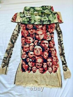 Jean Paul Gaultier Vintage Rare Maille Faces Long Sleeve Mesh Top Small