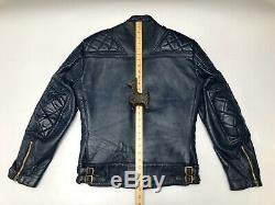 Lewis Leathers Genuine Leather Vintage Rare Blue Super Monza Jacket Aviakit M 38