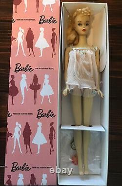 Lovely! Vintage 1959 #3 Blonde Ponytail Barbie w Super Rare #973 Pink Dreams+Box