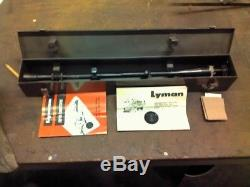 Lyman super targetspot 20X vintage rifle scope with rare metal box, and paper work