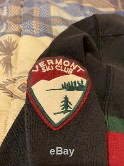NWT Rugby Ralph Lauren SUPER RARE XXL Bearhead Vermont Ski Patch vintage Polo