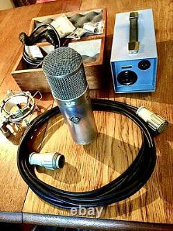 Neumann Vintage 1963 Neumann U 47 Tube Microphone Super Rare 1963 Nickel