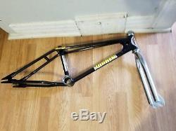 Old School Bmx 20 Black Torker Frame Chrome Fork Headset Og Super Rare Vintage