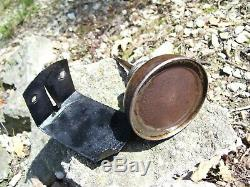 Old rare Original Ford motor co. Oil can w mount bracket under hood auto vintage