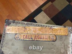 Original Garretts Snuff Sign Vintage Metal Antique Sign super rare Tobacco
