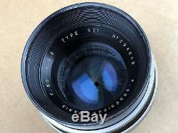 P. Angenieux 50mm F/1.5 Type S21 Paris Exakta Mount Vintage Lens Super Rare