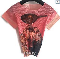 PLEATS PLEASE ISSEY MIYAKE Top Shirt RARE vintage Sundae Ice Cream Couture