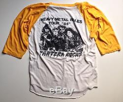 Pantera Raglan 1984 Concert T-Shirt Paper Thin Vintage Super Rare! (M/L 19x28)