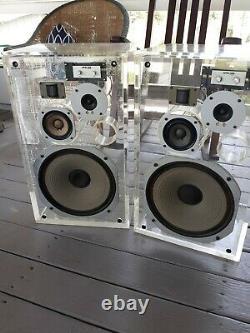 Pioneer Hpm 100 Vintage Acrylic Speakers Super Rare