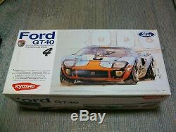 Price down! SUPER RARE VINTAGE KYOSHO NOSTALGIC CAR SERIES Ford GT40 NIB