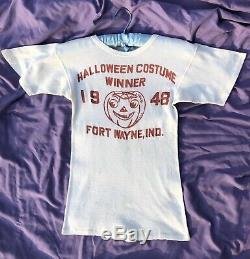 RARE 1940s Halloween Tee 1948 Shirt OOAK