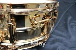 RARE Vintage 1960's Ludwig Super Sensitive 24k Gold Plated Snare Drum