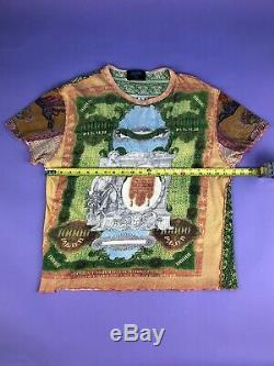 RARE Vintage 90s Jean Paul Gaultier Currency Print T-shirt (XL)